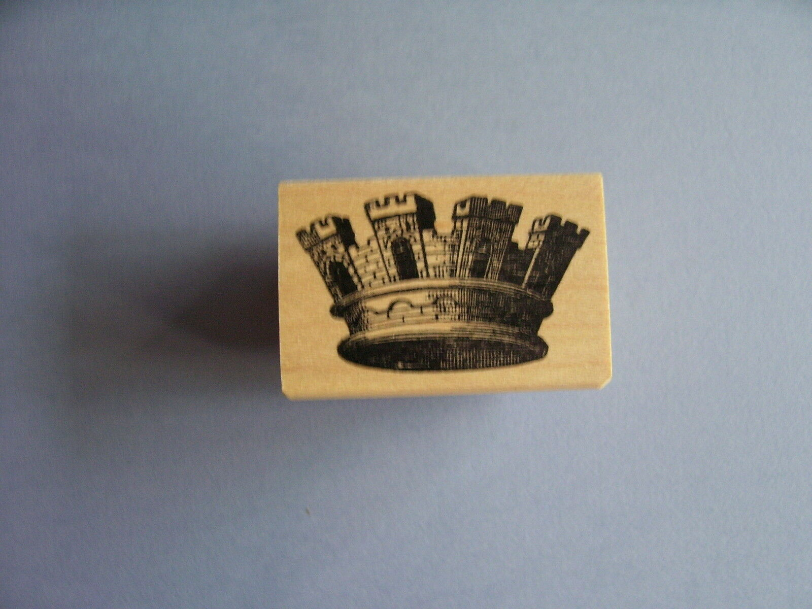 100 Proof Press Rubber Stamps Castle Crown Stamp