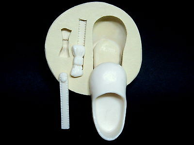 Baby Shoes #1, Silicone Mold Chocolate Polymer Clay Jewelry Soap Melting Wax