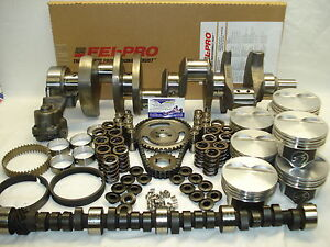SB Chevy 383 Stroker Engine Kit For 1pc Rear Main Seal Crankshaft, '85-Up Block