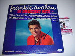 FRANKIE-AVALON-15-GREATEST-HITS-JSA-COA-SIGNED-LP-RECORD-ALBUM