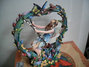 BEAUTIFUL DRAGONSITE FAIRY FIGURE HEARTS CONTENT BY SHEILA WOLK LTD ED BOXED
