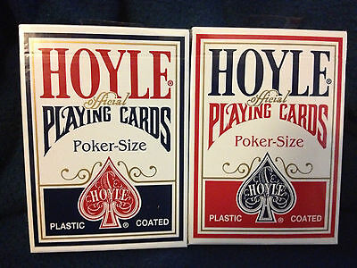 Official Hoyle Playing Cards Poker Size Red or Blue! New sealed!