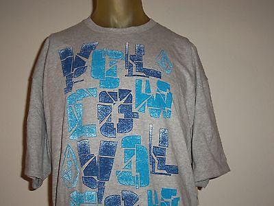 Volcom Gray Men's Graphic T-shirt W/multi-color Logos Size X-large/xl