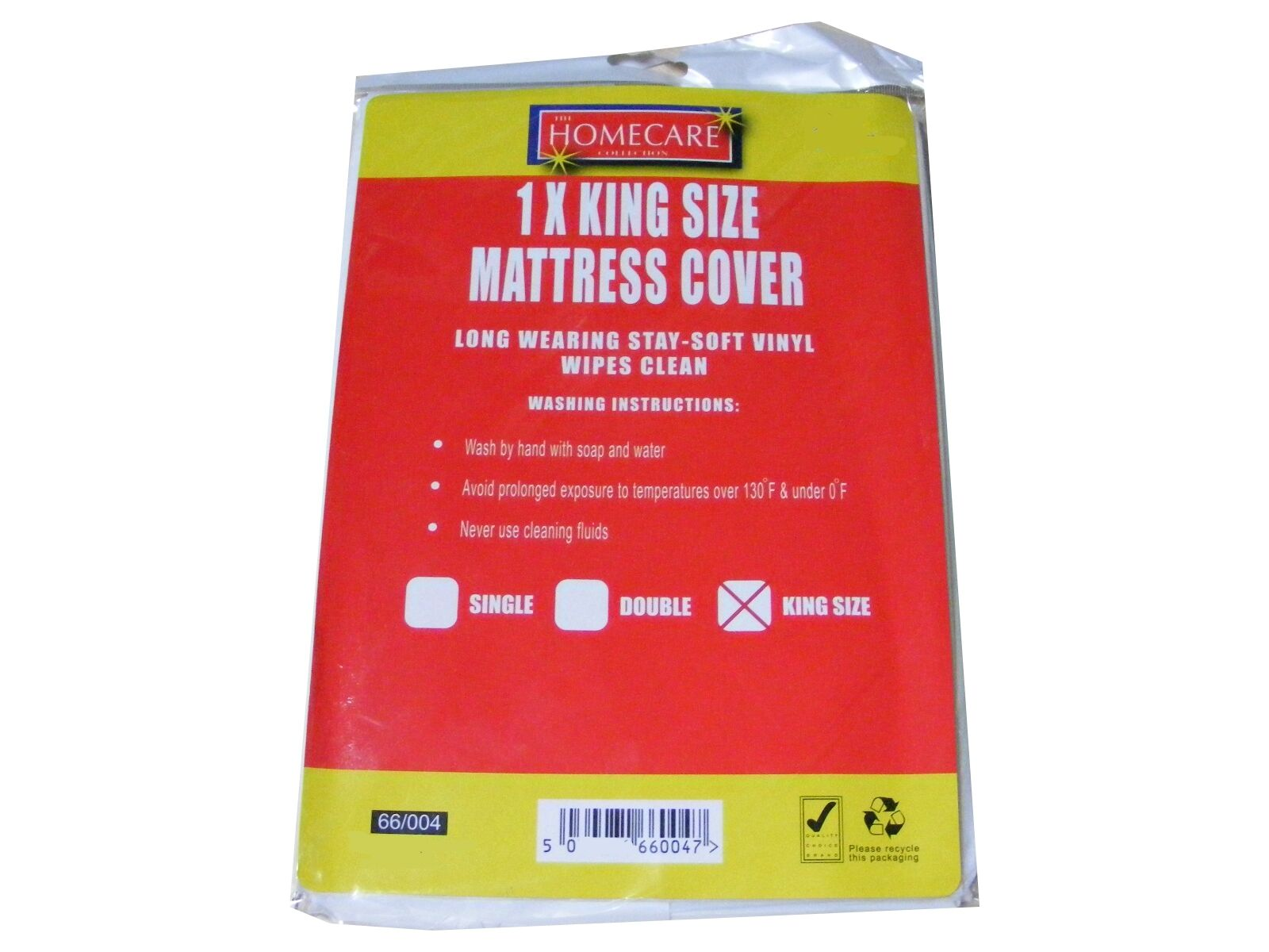 King Size Bed Wetting Vinyl Plastic Fitted Mattress Cover