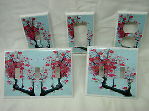 Oriental-Asian-Blossoms-Tranquil-Zen-Decor-III-Light-Switch-Cover-Plate-Outlet