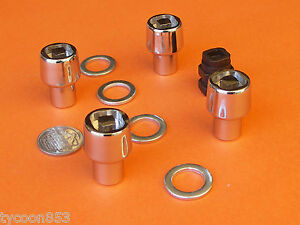 MAG WHEEL LOCK NUTS Pk4 SUIT HOLDEN FE - EJ HR - HQ WB + TORANA LC LJ LH LX UC