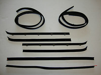 1973-1980 Chevrolet GMC Pickup Truck Door Window Glass Weatherstrip Seal Kit