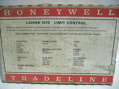 Honeywell Limit Control Cat.no. L4069a 178 Yg-11