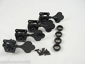 New BLACK VINTAGE STYLE INLINE BASS TUNERS for FENDER P J BASS MIGHTY MITE