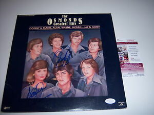 DONNY-AND-MARIE-OSMOND-THE-OSMONDS-GREATEST-HITS-JSA-COA-SIGNED-LP-RECORD-ALBUM