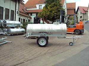 Wasserwagen verzinkt  400 L  Wasserfass  Weidefass  Kugelkopfkupplung  Traktor