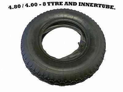 4.00 - 8 (4.80 / 4.00 - 8) WHEELBARROW TYRE AND INNER TUBE, INNERTUBE, GARDEN.