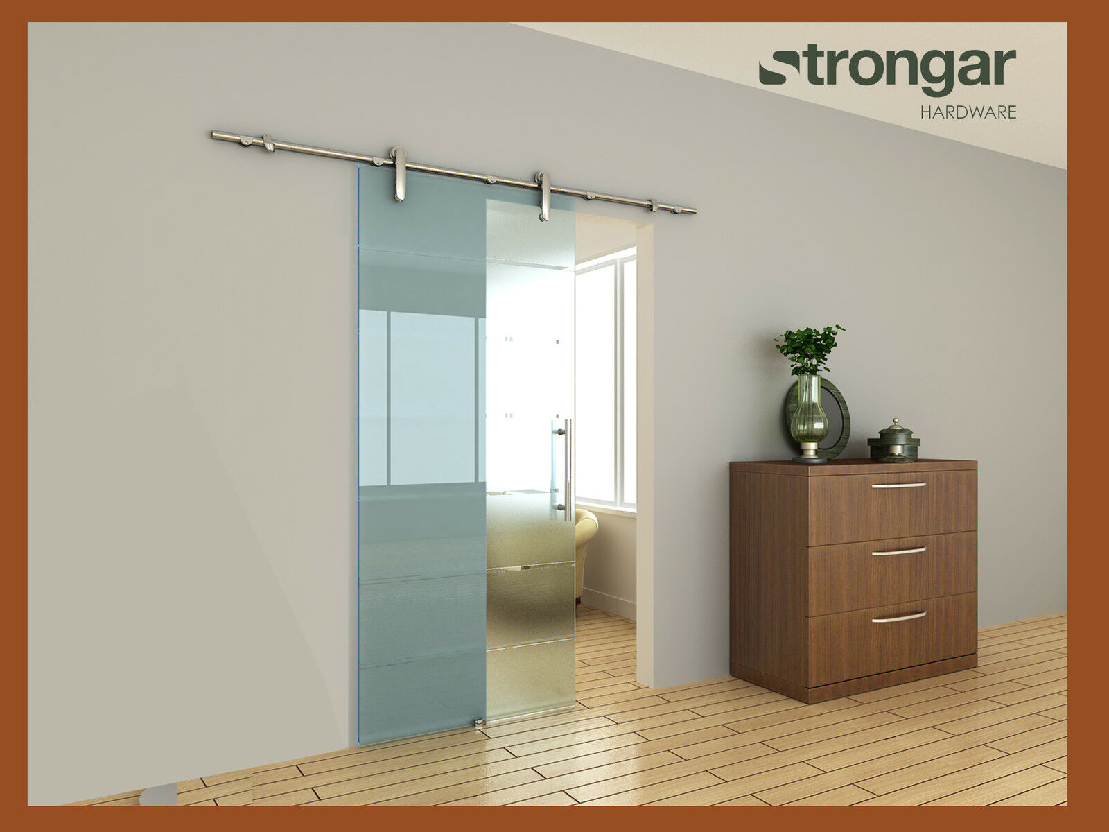 EUROPEAN Stainless Steel Barn Door Hardware For