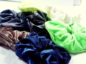 Large-VELVET12CM-Colours-hair-SCRUNCHIE-Scrunchies-Bobbles-Elastic-hair-bands