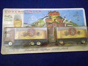 Modello-modellino-autocarro-Camion-della-Birra-Benz-Actros-Coburg-pubblicita-MW3