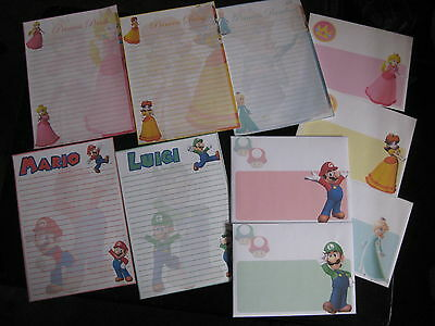 Super Mario Stationary Set Luigi Princess Peach Princess Daisy Princess Rosalina