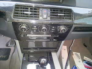 BMW-E60-5series-m5-OEM-stereo-and-a-c-fram-with-real-CARBON-FIBER-finishing