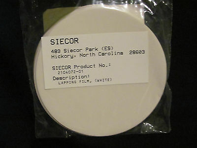 Brand White Lapping Film 50 Count Siecor Product 2104072-01 Corning