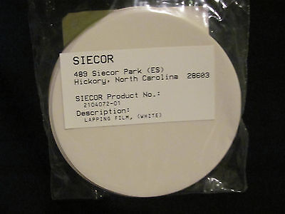 Brand Yellow Lapping Film 15 Count Siecor Product 2104071-01 Corning