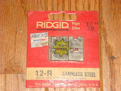 Ridgid 1/8 Pipe Dies For Type 12-r Threader