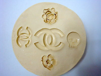 Luxury logo, Silicone Mold Chocolate Polymer Clay Jewelry Soap Melting Wax Resin