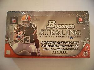 2012 Bowman Sterling Football Hobby Factory Sealed Hobby Box