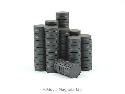 100 strong C8 ferrite round disk magnets 12mm dia x 3mm craft fridge diy mro
