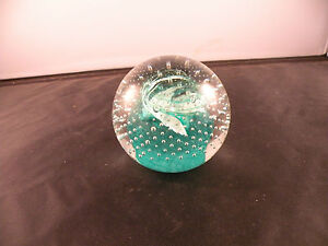 Vintage-Caithness-Cauldron-Scotland-paperweight-hand-blown-glass-signed-number