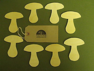 8 Mushroom decorations gift tags pyrography by Wiff of the Woods