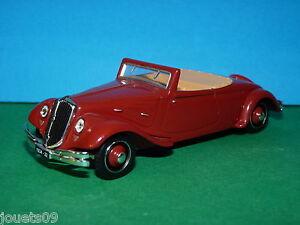 citro n traction cabriolet 22 cv norev 1 43 ebay. Black Bedroom Furniture Sets. Home Design Ideas