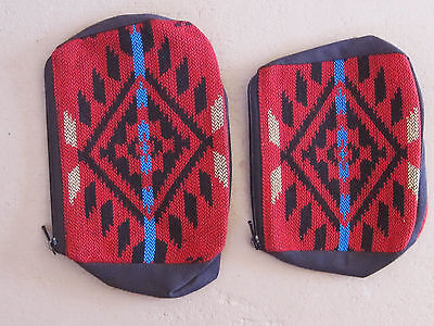 Southwestern Design Red, Black Turquoise Cosmetic, Jewelry Or Multi-use Bags - 2