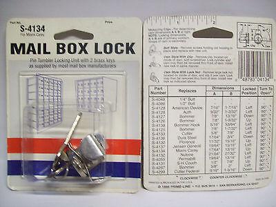 "S4134 Miami Carey Mailbox Lock 13/16"" Nickel X2"