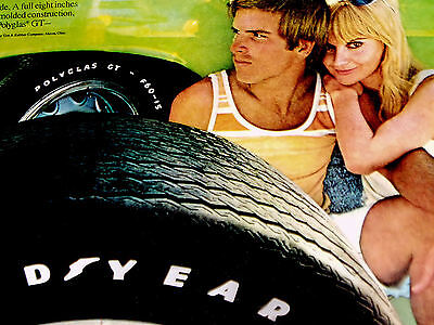 1970 Plymouth HEMI BARRACUDA-GOODYEAR TIRE AD-Polyglas GT-print/poster/sign/1971