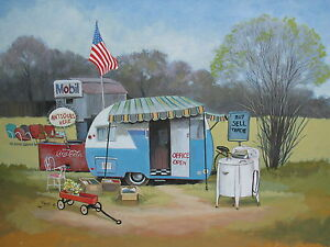 Vintage-Shasta-FIRST-MONDAY-Travel-Trailer-Camper-ART