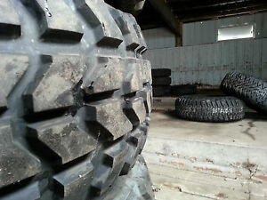 4 GOODYEAR WRANGLER MT OZ 37X12.5X16.5 MILITARY H1 HUMMER HUMVEE TIRES 90% TREAD