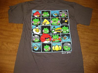 Angry Birds Youth Xl T Shirt Finnish Video Game Apple App Store Pigs Cartoon