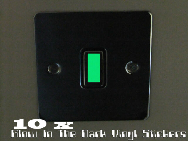 Glow In The Dark Vinyl Light Switch Stickers x 10