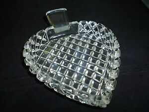 Lead Crystal Glass Diamond Cut Spade Suit Pin Dish