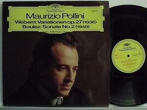 MAURIZIO-POLLINI-disco-LP-33-giri-ANTON-WEBERN-OP-27-PIERRE-BOULEZ-Sonata-N-2