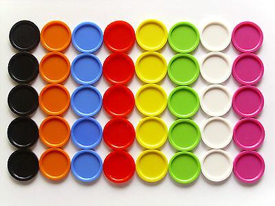 100 Einkaufswagenchips, glatt mit Griffrand, bunt in 10 Farben od. sort.