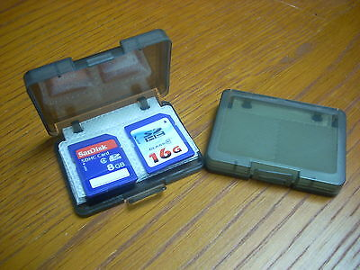 2-pack Plastic Storage Carrying Case For 6 Cards Sd Sdhc Pro Duo Memory Stick
