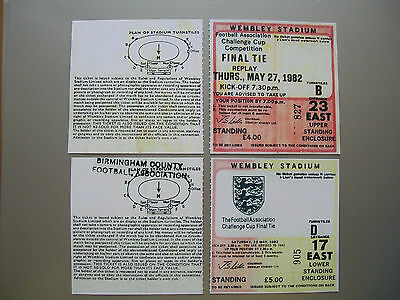 1982 F.A. Cup Final & Replay Tickets Tottenham H v Q.P.R. Mint condition