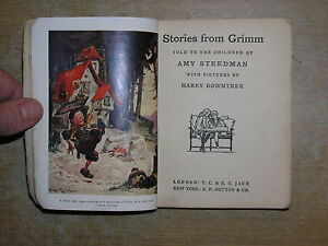 Stories-From-Grimm-Told-To-The-Children-Amy-Steedman-Illustrated-Harry-Rowntree