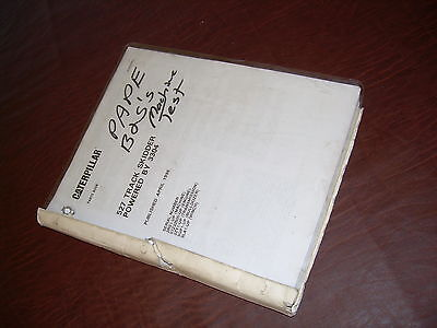 Caterpillar Cat 527 Trackskidder Bulldozer Tractor Parts Manual Book Sn 2rs1-up