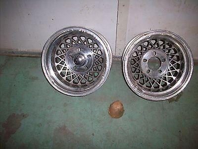 Vintage 1970's NOS pr Superior aluminum wheels 14 X 8 Camaro Cuda Mach 1 unilug