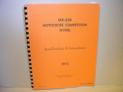 Harley-davidson Aermacchi 1975 Mx 250 Service Manual-99488-75r