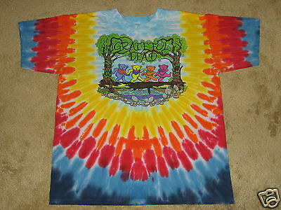 - Grateful Dead Wood Bears S, M, L, XL, 2XL, 3XL, 4XL, 5XL Tie Dye T-Shirt