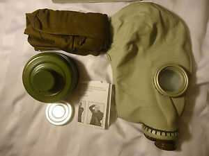 NEW Soviet Russian Civilian Gas Mask GP-5 Size SMALL+ NBC Filter & Haversack