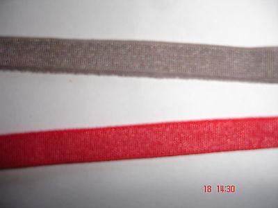 elastisches Band 0,22€/m 10 Meter MB93 Webgummi hellmokka