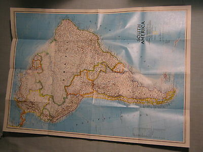 SOUTH AMERICA MAP + AMAZONIA WORLD RESOURCE National Geographic August 1992 MINT